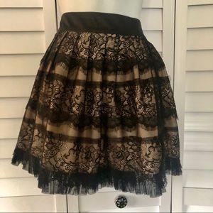 Lace & Satin skirt F21